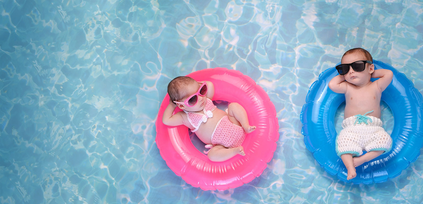 Babies in a pool